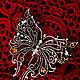 """Броши ручной работы. """"My lovely Butterfly"""" Серебряная брошь. Charm of Metal. Интернет-магазин Ярмарка Мастеров. wire"""