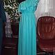 Платья ручной работы. Ярмарка Мастеров - ручная работа. Купить Платье бирюза.. Handmade. Бирюзовый, платье летнее, пошив на заказ
