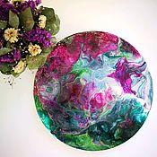 Картины ручной работы. Ярмарка Мастеров - ручная работа Яркая картина круглой формы. Handmade.