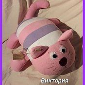 """Мягкие игрушки ручной работы. Ярмарка Мастеров - ручная работа Подушка-игрушка """"Чеширский кот"""". Handmade."""