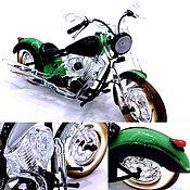Для дома и интерьера ручной работы. Ярмарка Мастеров - ручная работа Интерьерная скульптура из стекла - Машина для верховой езды. Мотоцикл. Handmade.