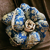 Для дома и интерьера handmade. Livemaster - original item Pillow flower decorative blue. Handmade.