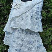 Палантины ручной работы. Ярмарка Мастеров - ручная работа Невеста  Палантин. Нуновойлок. Handmade.