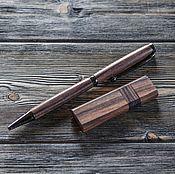 Канцелярские товары ручной работы. Ярмарка Мастеров - ручная работа Набор ручка+флешка из палисандра. Handmade.