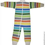 Работы для детей, ручной работы. Ярмарка Мастеров - ручная работа Комбинезон-поддева из мериносовой шерсти 86-92. Handmade.
