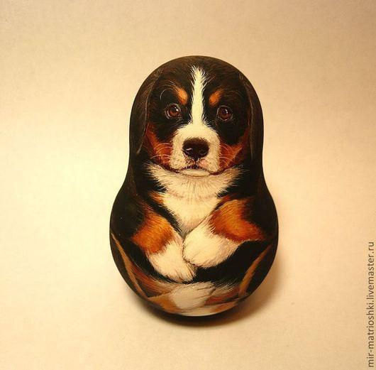 Сувениры ручной работы. Ярмарка Мастеров - ручная работа. Купить Неваляшка щенок бернского зенненхунда (со звоном). Handmade.
