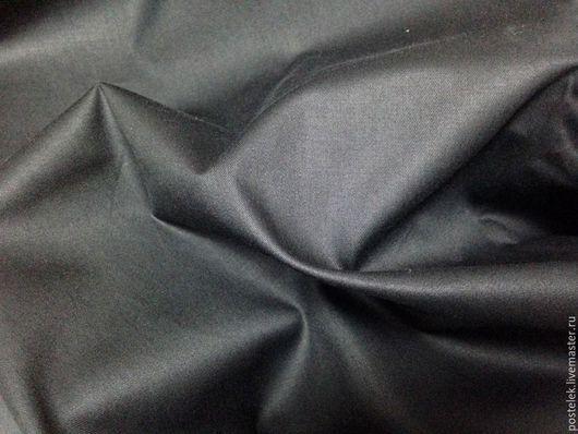 Черный сатин, гладкий, 100% хлопок
