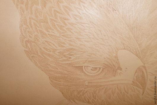 """Животные ручной работы. Ярмарка Мастеров - ручная работа. Купить Картина на коже """"Орёл"""". Handmade. Кожа, натуральная кожа, картина"""