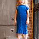 """Одежда для девочек, ручной работы. Платье """"Вязаное счастье для маленькой девочки"""". ХорошаяПряжа. Ярмарка Мастеров. Спицы, вязание на заказ"""