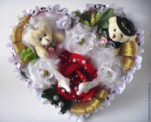 Букет из игрушек Свадебный жених и невеста