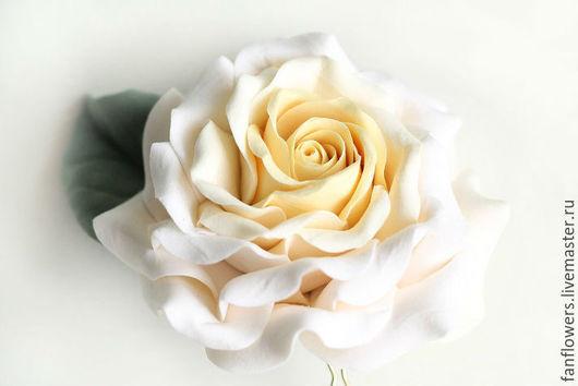 Свадебные украшения ручной работы. Ярмарка Мастеров - ручная работа. Купить Шпилька с розой. Шпильки для прически невесты.. Handmade. Бежевый