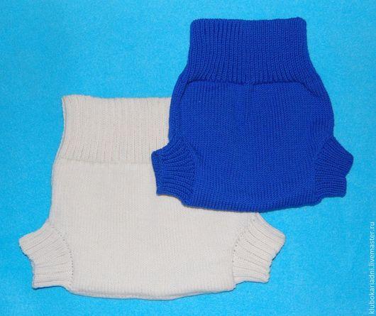 Одежда ручной работы. Ярмарка Мастеров - ручная работа. Купить Пеленальные штанишки. Handmade. Белый, штанишки вязаные, для новорожденных