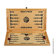 Активный отдых и развлечения handmade. Livemaster - original item A great gift for the man! Backgammon-checkers-chess game 3 in 1. Handmade.