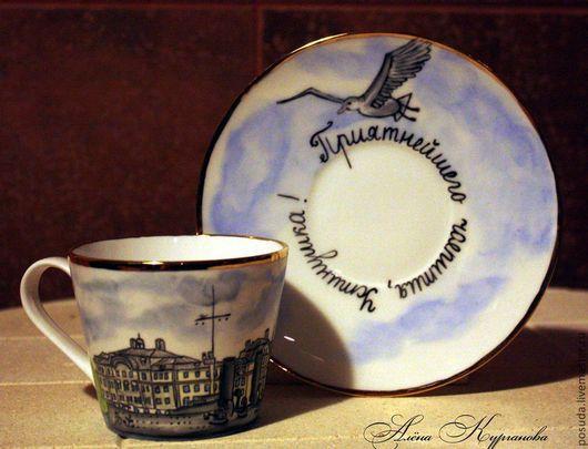 """Сервизы, чайные пары ручной работы. Ярмарка Мастеров - ручная работа. Купить Чайная пара """"Аврора для Устина"""". Handmade."""