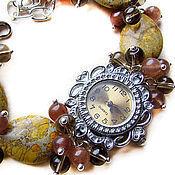 """Украшения ручной работы. Ярмарка Мастеров - ручная работа """"Саванна"""" наручные часы с варисцитом. Handmade."""