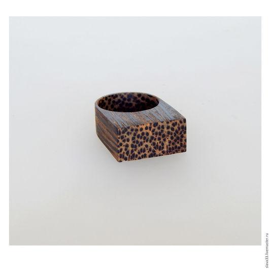 Кольца ручной работы. Ярмарка Мастеров - ручная работа. Купить Колечко из черной пальмы. Handmade. Коричневый, стильное кольцо