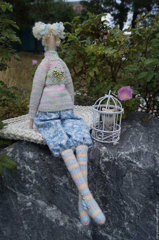 Куклы Тильды ручной работы. Ярмарка Мастеров - ручная работа. Купить куколка Абелия. Handmade. Мятный, кукла интерьерная