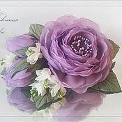 Свадебный салон ручной работы. Ярмарка Мастеров - ручная работа Цветы в прическу Лиловые розы. Handmade.