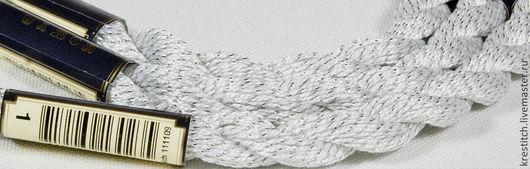 Вышивка ручной работы. Ярмарка Мастеров - ручная работа. Купить Anchor Pearl метал. белая (1) нить для вышивания. Handmade.