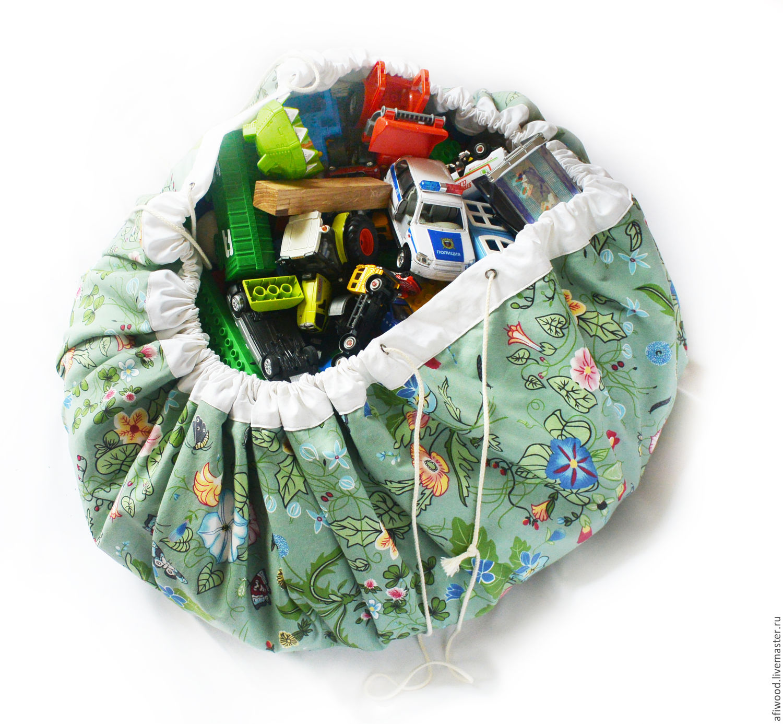 Мешок коврик для игрушек из ткани 25
