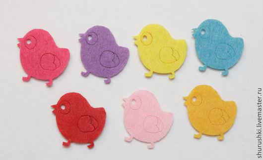 Валяние ручной работы. Ярмарка Мастеров - ручная работа. Купить Цыплята из фетра. Handmade. Цыпленок, пасхальный подарок, курочка, фетр