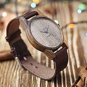 Украшения handmade. Livemaster - original item Wooden clock, mens wrist watches, walnut, 07I4035ww2. Handmade.