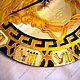 Часы для дома ручной работы. Часы настенные круглые зеркальные Версаче (Греция)черный с золотом. Элеонора Саунина (Ella-handmade). Ярмарка Мастеров.