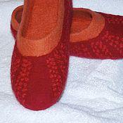 """Обувь ручной работы. Ярмарка Мастеров - ручная работа Тапочки валяные  """"Кораллы"""". Handmade."""