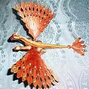 Для дома и интерьера ручной работы. Ярмарка Мастеров - ручная работа Медно-золотой дракон. Handmade.