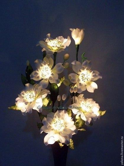 """Освещение ручной работы. Ярмарка Мастеров - ручная работа Цветы-светильник """"Марта"""". Handmade."""