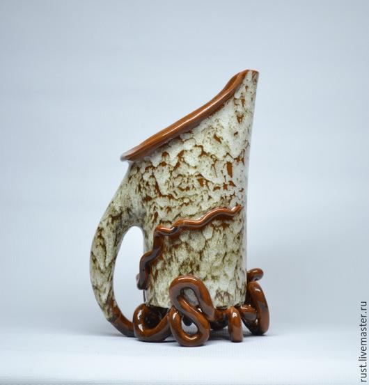 Графины, кувшины ручной работы. Ярмарка Мастеров - ручная работа. Купить кувшин Устойчивый. Handmade. Кувшин из глины, Авторский дизайн