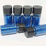 Glitters handmade. Livemaster - original item Glitter (sequins) blue, 10 grams. Handmade.