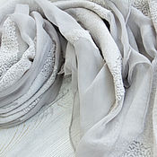 Аксессуары handmade. Livemaster - original item Exclusive silk scarf from Chanel fabric