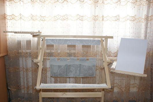"""Мебель ручной работы. Ярмарка Мастеров - ручная работа. Купить Станок для вышивания  напольно-кроватная """"Яна"""". Handmade. Белый, берёза"""