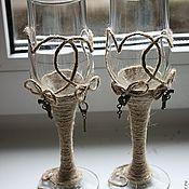 Свадебный салон ручной работы. Ярмарка Мастеров - ручная работа Свадебные бокалы Western. Handmade.
