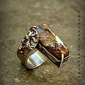 Украшения ручной работы. Ярмарка Мастеров - ручная работа Серебряное кольцо с опалом. Handmade.