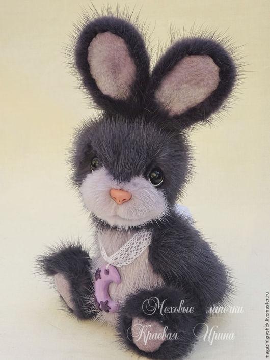 Мишки Тедди ручной работы. Ярмарка Мастеров - ручная работа. Купить На сиреневой луне.... Игрушка из натурального меха.. Handmade.