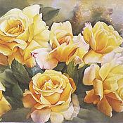"""Картины и панно ручной работы. Ярмарка Мастеров - ручная работа """"Вдыхая розы аромат"""". Handmade."""