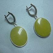 Украшения handmade. Livemaster - original item Elegant earrings AMBER.silver.. Handmade.
