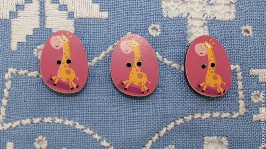 Шитье ручной работы. Ярмарка Мастеров - ручная работа. Купить пуговицы жирафы маленькие. Handmade. Оранжевый, жирафик, пуговицы декоративные