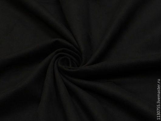 Шитье ручной работы. Ярмарка Мастеров - ручная работа. Купить Ткань замша стрейч  черная одежная. Handmade. Черный