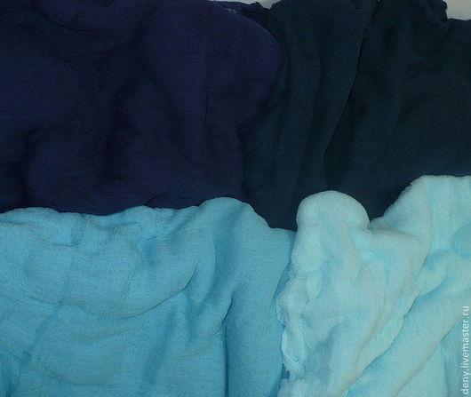 Валяние ручной работы. Ярмарка Мастеров - ручная работа. Купить Марля х/б для валяния, синие тона. Handmade. Мокрое валяние