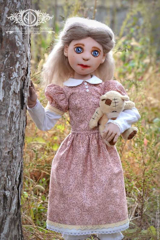 Коллекционные куклы ручной работы. Ярмарка Мастеров - ручная работа. Купить Текстильная шарнирная кукла. Лили.. Handmade. Розовый