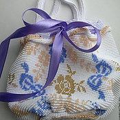 Сумки ручной работы. Ярмарка Мастеров - ручная работа Бисерная сумочка невесты. Handmade.