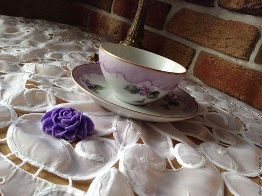 Винтажная посуда. Ярмарка Мастеров - ручная работа. Купить Чайная пара. Handmade. Разноцветный, фарфор
