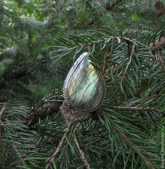 """Кольца ручной работы. Ярмарка Мастеров - ручная работа. Купить Кольцо """"Лунный лес"""" с лабрадором. Handmade. Комбинированный, кольцо радужное"""
