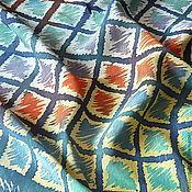 Аксессуары ручной работы. Ярмарка Мастеров - ручная работа Платок шелковый батик Квадратики. Handmade.