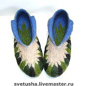 Slippers handmade. Livemaster - original item Men`s felt Slippers