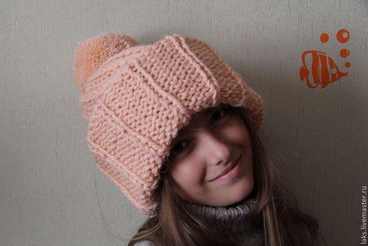 Шапки ручной работы. Ярмарка Мастеров - ручная работа. Купить Дизайнерская объемная шапка. Handmade. Бежевый, объемная шапка