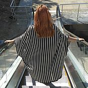 Одежда handmade. Livemaster - original item АГ_008 Wrap black and white stripe. Handmade.